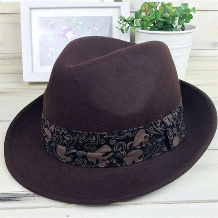 Winter warm wholesale fashion woman outdoor wool wide brim fedora hat