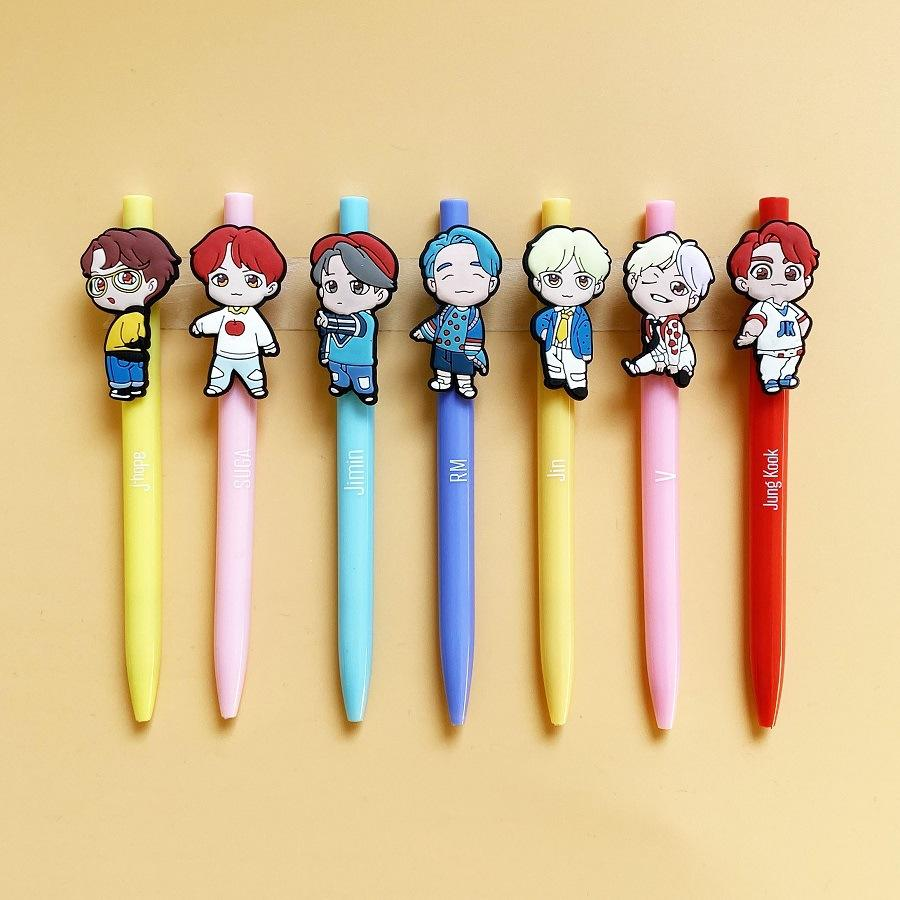 Customized Pen With Rubber Wholesale Cheap Cartoon Cute Unicorn Bts Point Ball Pen Manufacturing