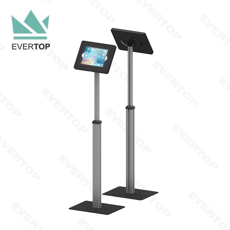 LSF03-C Swivel Tilt Telescopic Floor for iPad Kiosk Display Stand Free Standing for iPad Lockable Stand Kiosk Stand for Tablet