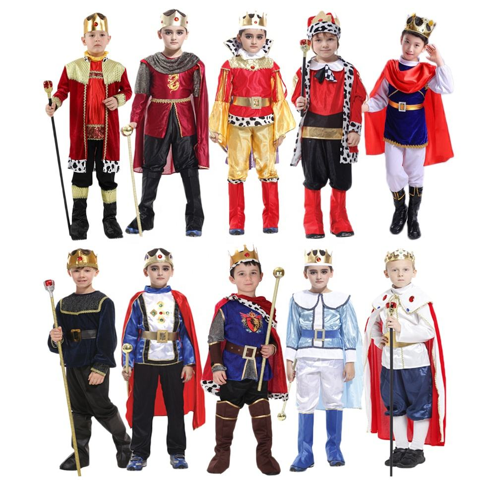 Halloween Party Fancy Dress Up Knight Carnival Warrior Kids Costumes Anime Cosplay King Prince Boys Costume