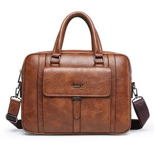 Waterproof Business Casual PU leather Briefcase Messenger Laptop bag Men Handbag