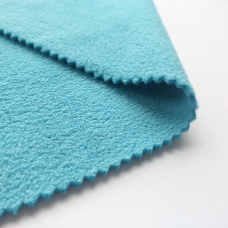 100% polyester 150D micro polar fleece two side brushed one side anti pilling fabric china