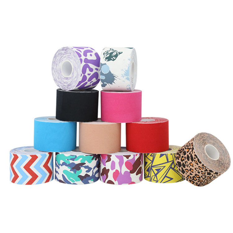 new product oem accepted medical waterproof cotton elastic athletic sports kinesiology tape compression tape