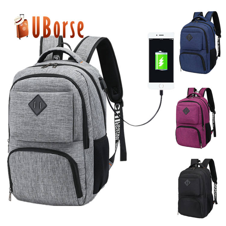 Wholesale Computer Charging Backpacks Custom Travelling Mochilas USB Magic School Laptop Shoulder Bagpack Back pack Bag Backpack