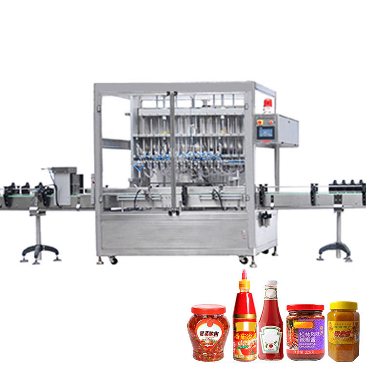 Automatic Glass Plastic Jar Paste Jam Ketchup Pizza BBQ Tomato Spaghetti Chili Hot Sauce Bottle Liquid Filling Machine Line