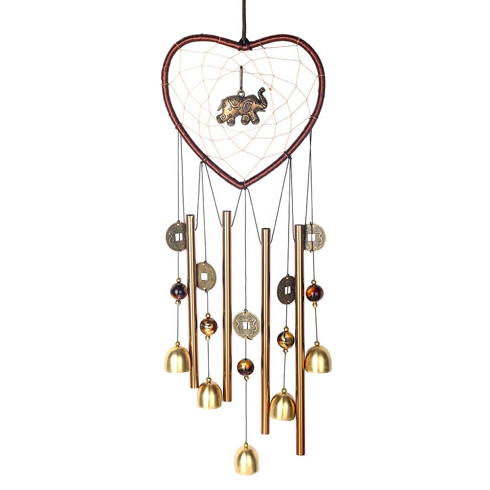 Wholesale Heart Elephant Wind Chimes Outdoor Dream Catcher Chimes Indoor Wind Bells Church Bell for Home Garden Yard Decoration