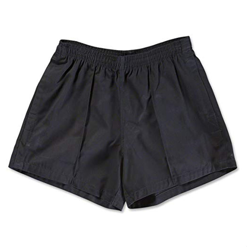 100% Cotton Twill Athletic Rugby Shorts For Men With 2 Pockets