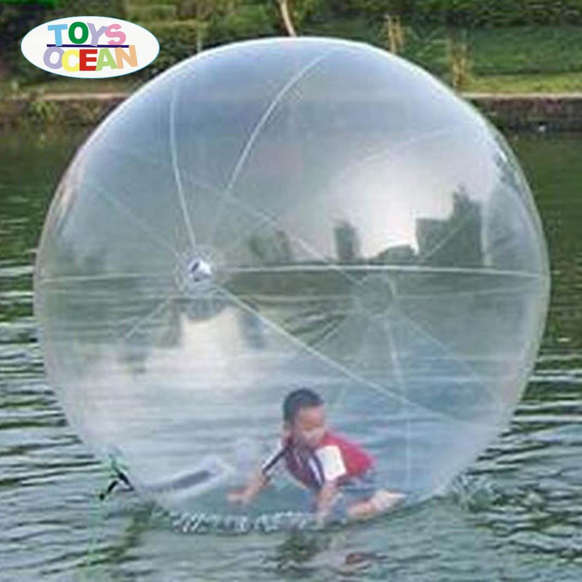 PVC/TPU clear water walking ball inflatable floating water pool balls for sale
