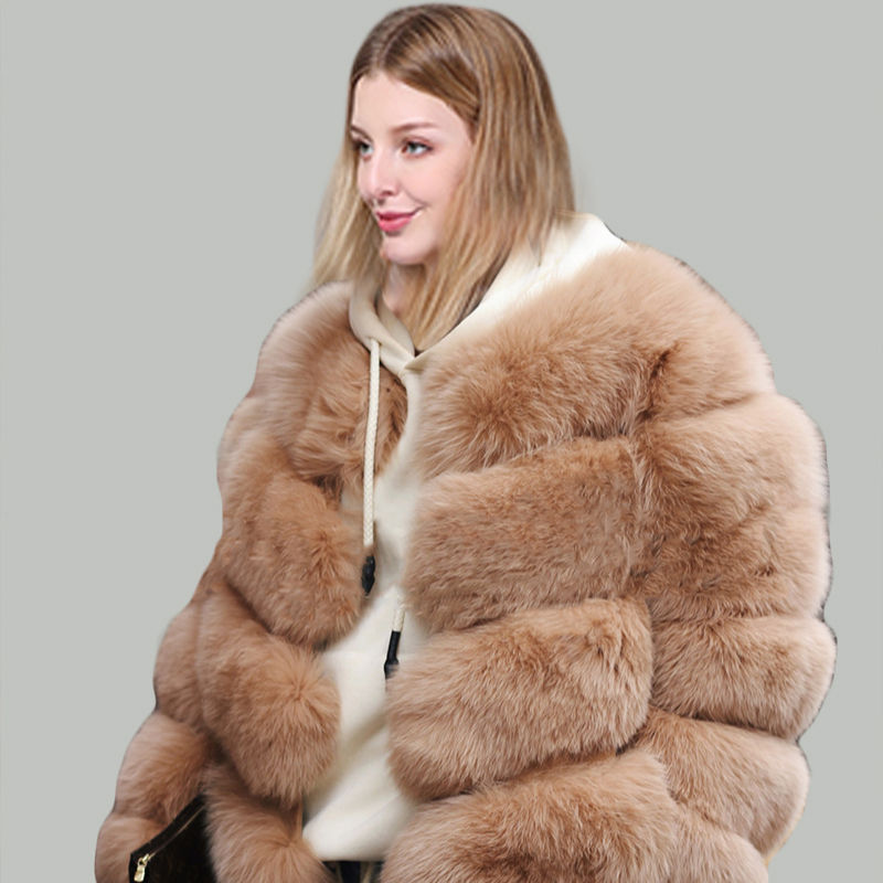 High Quality Fur Garment Ladies Coat Design Pakistan Fluffy Black Coat