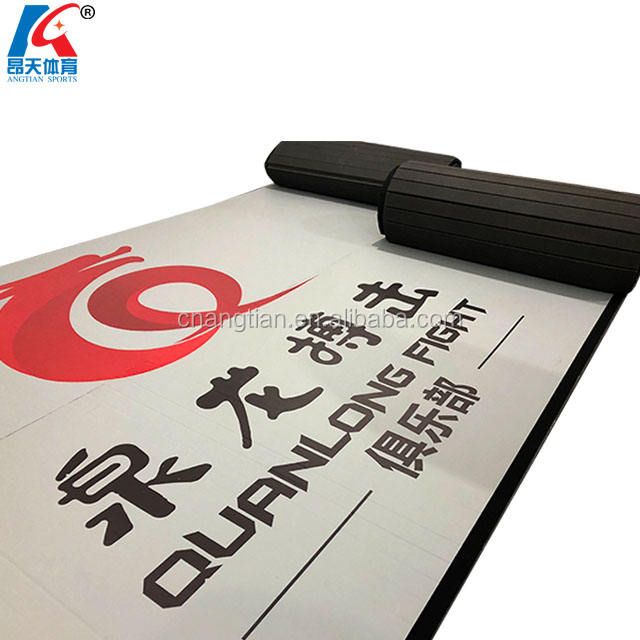 wholesale china factory roll mma matt/ rolled up gymnastic mat cheerleading/ rollout jiu jitsu grappling mats