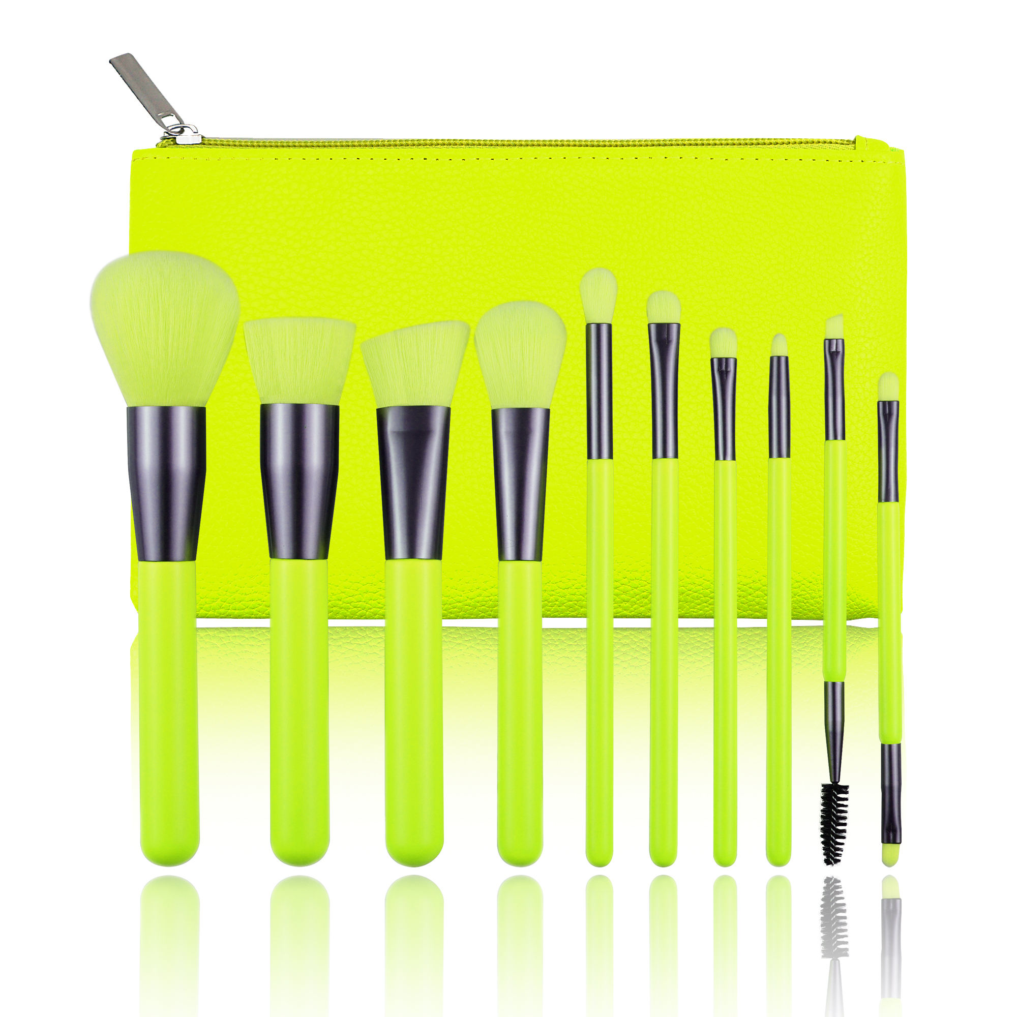 10pcs Best Selling Private Label Brush Logo Neon Make Up Brushes Sets Makeup Wholesale