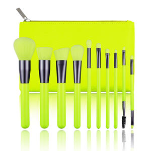 10pcs Beste Verkauf Private Label Pinsel Logo Neon Make-Up Pinsel Sets Make-Up Großhandel