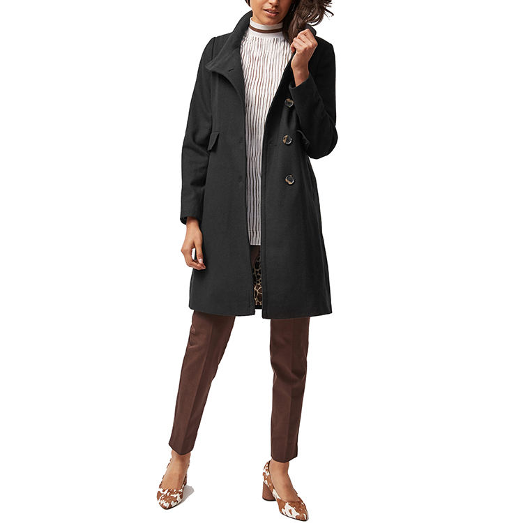 Goed ontworpen <span class=keywords><strong>kasjmier</strong></span> jas winter zwarte vrouw lange trenchcoat