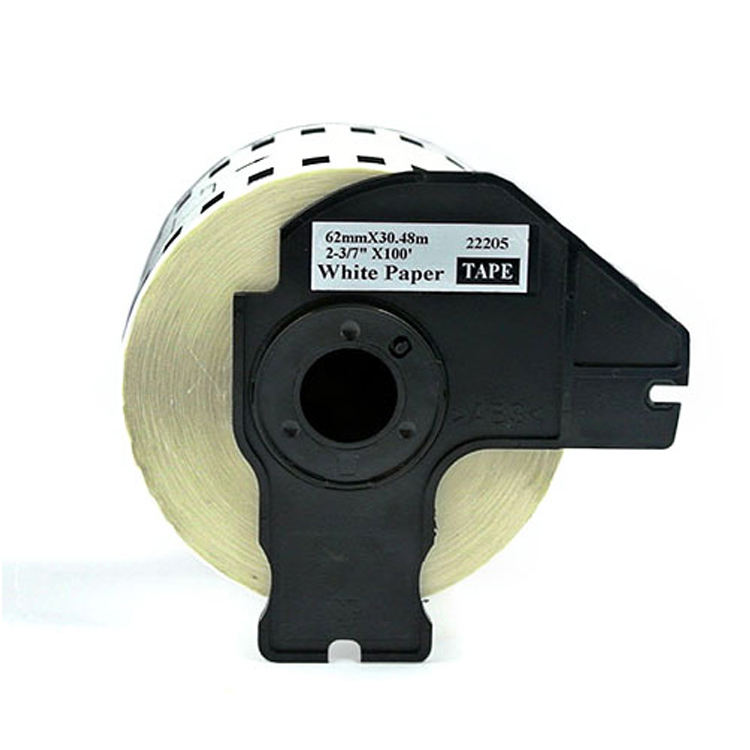 USA Advantage Compatible Continuous Paper Tape Replacement for Brother DK-2205 White Paper,5 Pack DK2205
