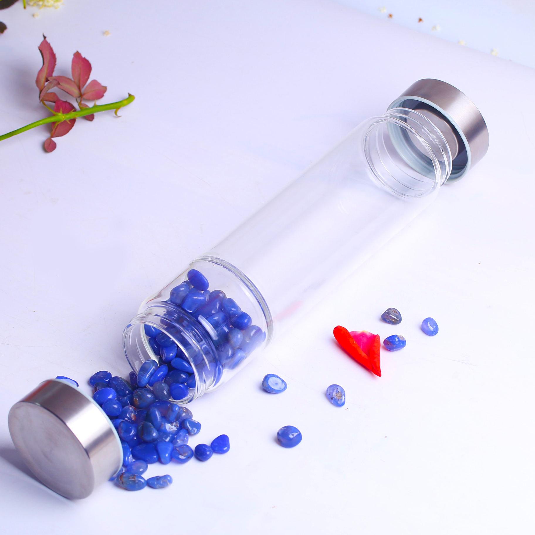 Wholesale Of Glass Water Bottle Of High Quality Crystal South Onyx Glass Bottle