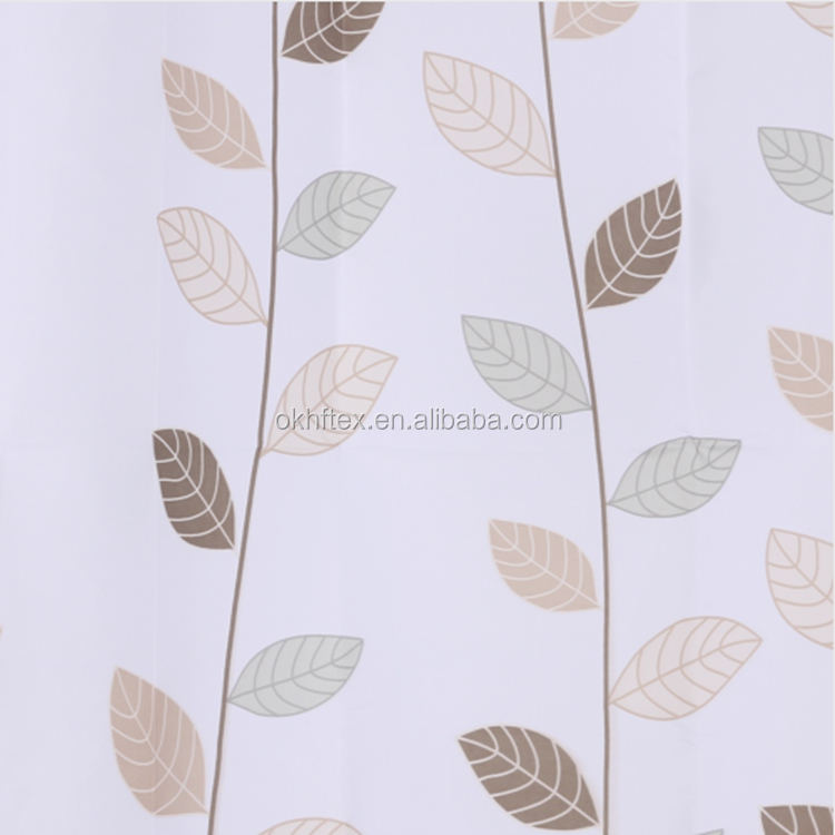 fashion beautiful 100%polyester embroider voile sheer curtain fabric
