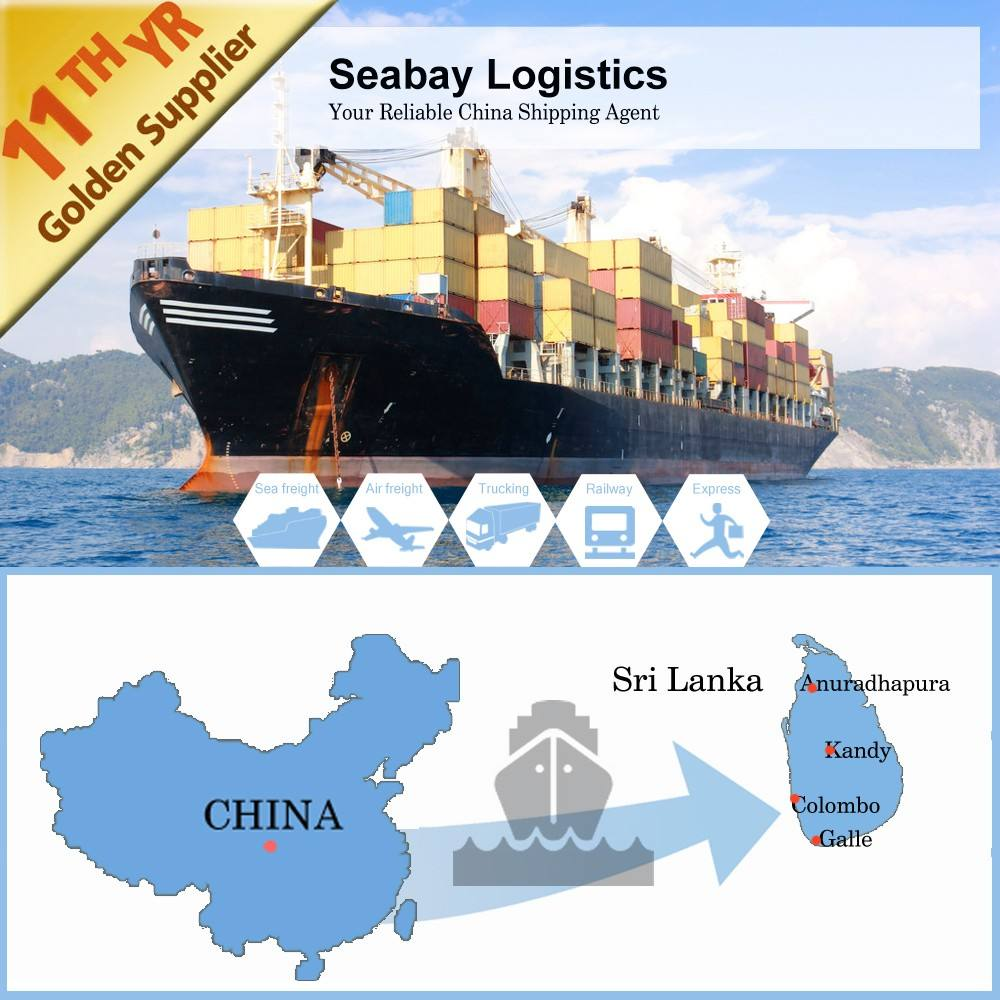 The professional sea shipping agent from China to Sir lanka