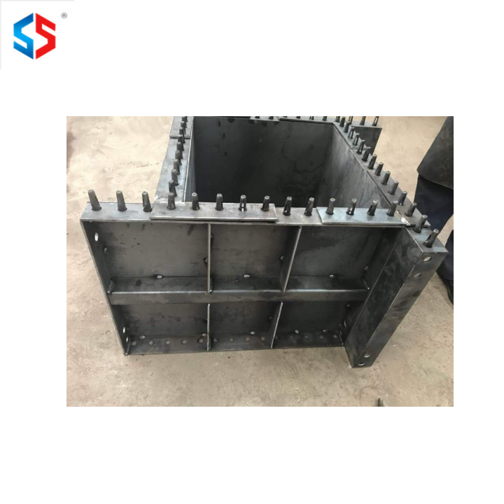 design metal concrete adjustable Q235 steel square column pillar mold mould formwork for construction
