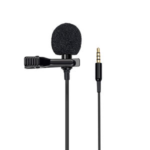 Omnidirectional Condenser Mic Compatible Mini Clip-on Lapel Lavalier Condenser Microphone with 3.5mm Headphone Output Jack