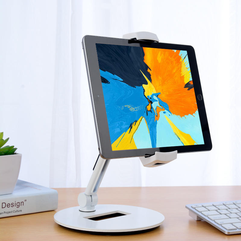 2019 New Arrivals Gravity Desk Aluminum Tablet Stand, Cell Phone Stand, Folding Swivel iPad iPhone Desk Mount Holder