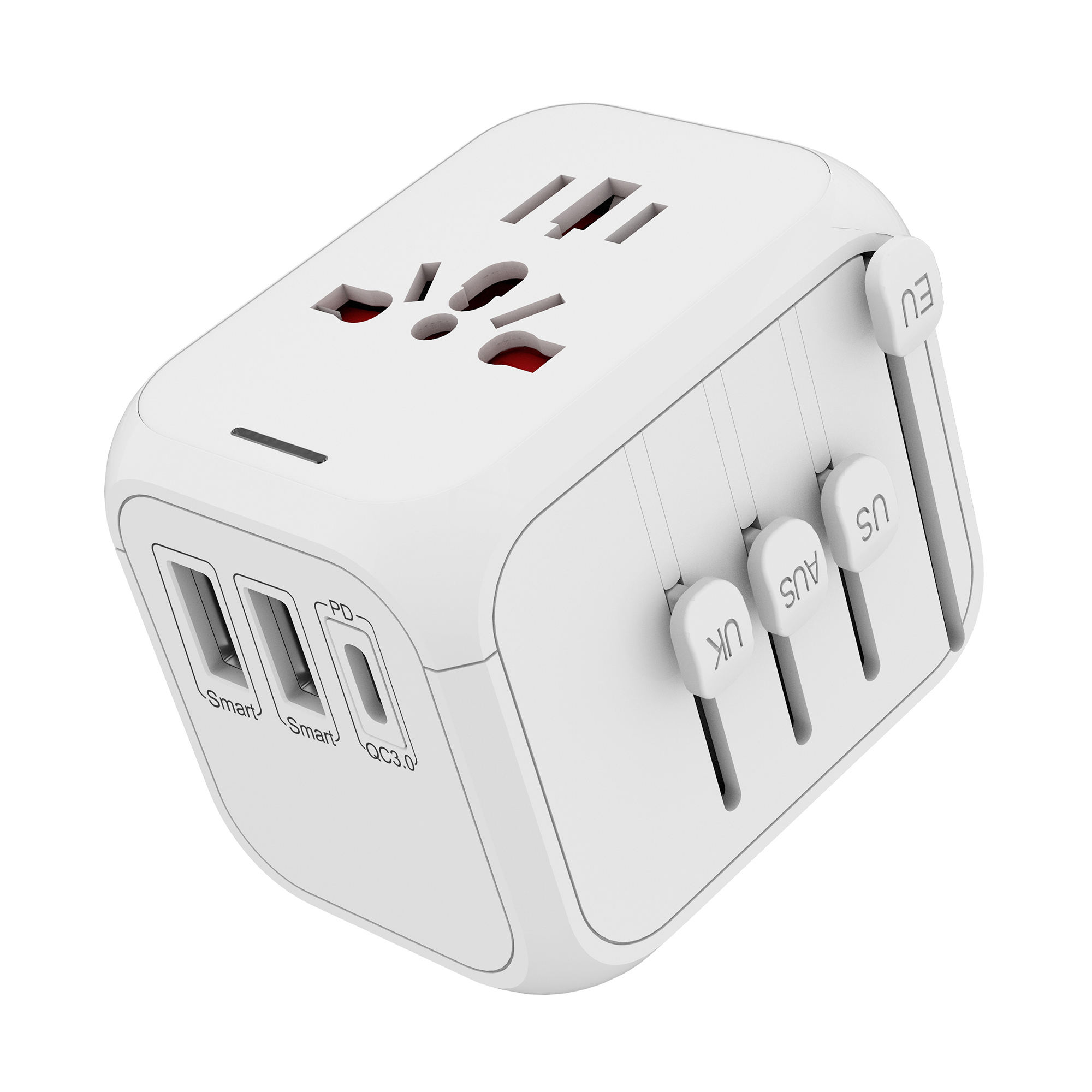 High quality international travel adaptor odm oem usb travel adapter PD for European market