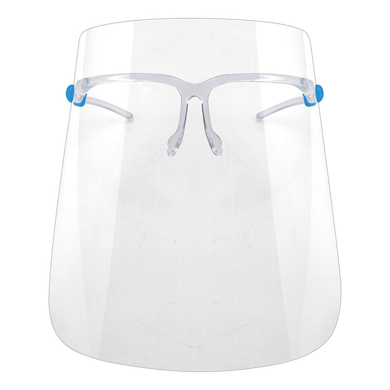 oil anti fog transparent face shield with glasses frame