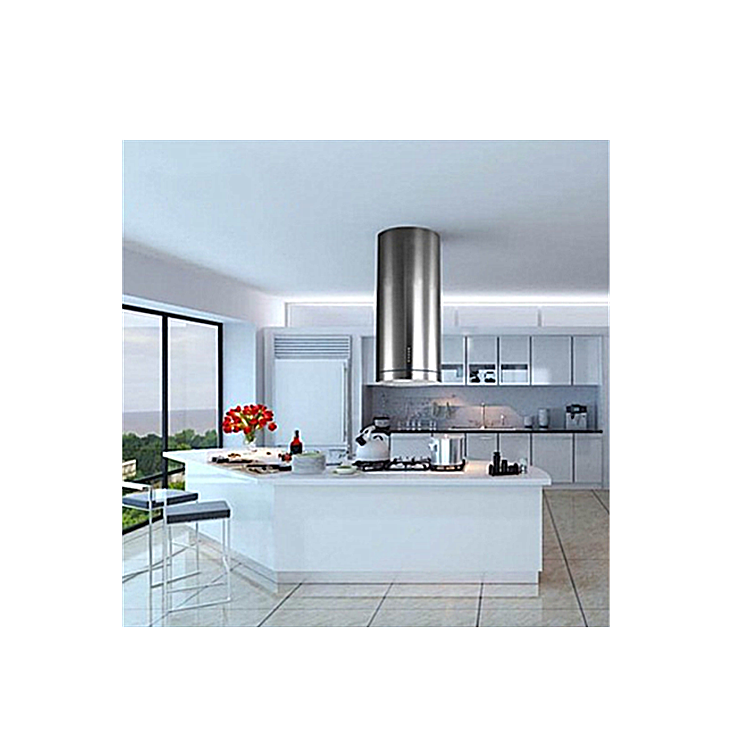 Soft Touch Stainless Steel Island Range Hood for Kitchen