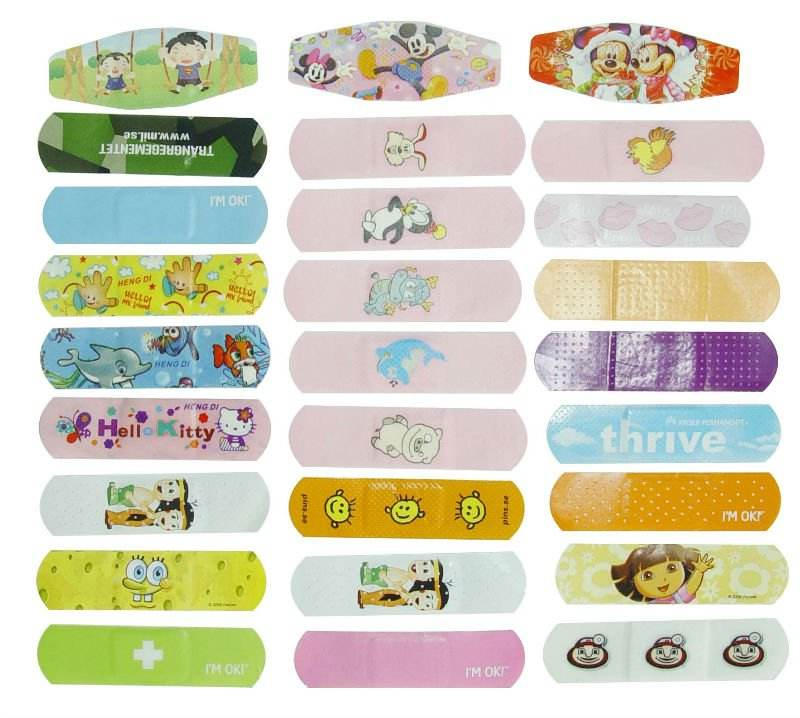 Manufactory-High Quality custom printed bandaid for kids/cartoon printed band aid/FDA/CE/ISO/BSCI
