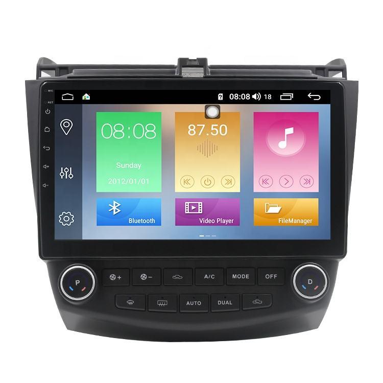 """IOKONE OEM 2.5D IPS 10,1 """"экран Android 9,0 Стерео GPS автомобильный мультимедиа для Honda Accord 7 2003-2007"""