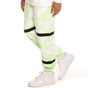 Neon green and black tie dye color stylish pant for men high street design sweatpants