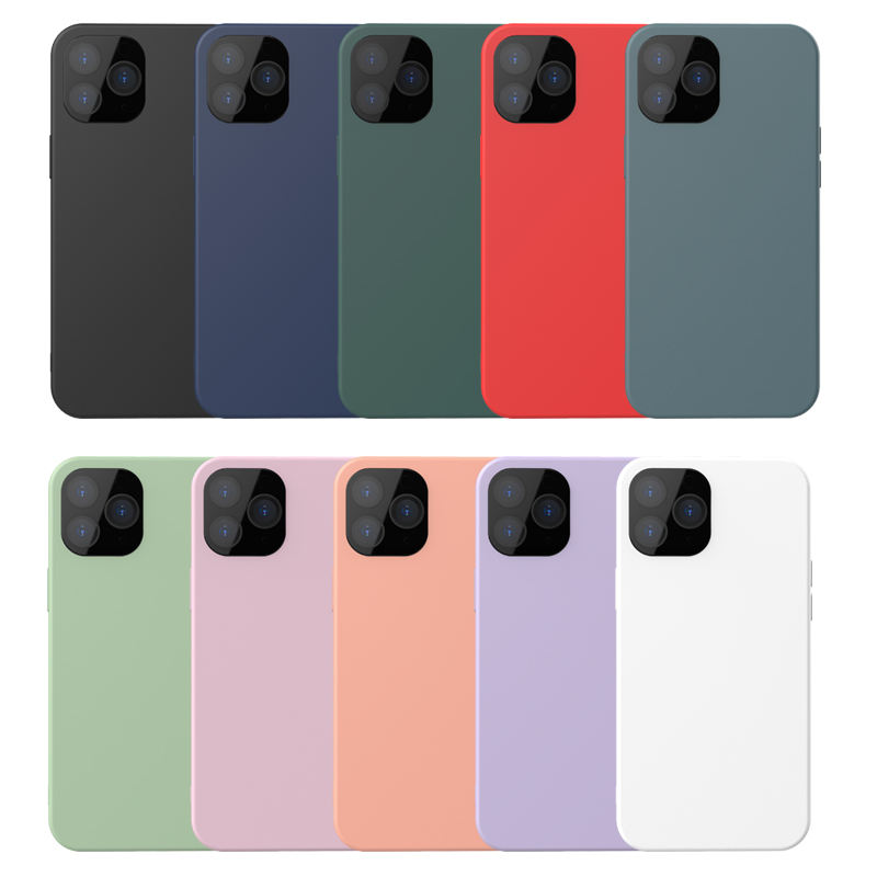 Free Samples Hot Selling Silicone Case Soft Phone Case for IPhone 11 Pro Max 12 Case Liquid Silicone
