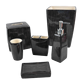 Classic black series ceramic bathroom accessories set with hand-painted and transparent glaze