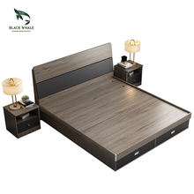 Storage Bett  Modern Queen Lit King size Double Wood  Beds Frame