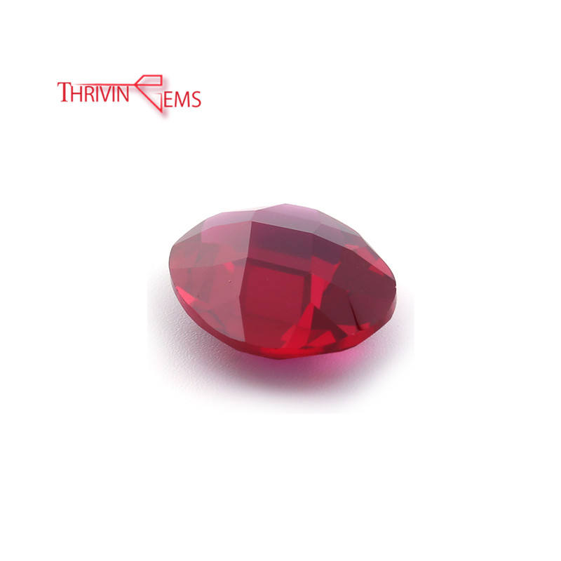 Thriving-Gems Top Quality Loose Bulk Faceted Cut Ruby Oval Shape Corundum Diamond Per Carat