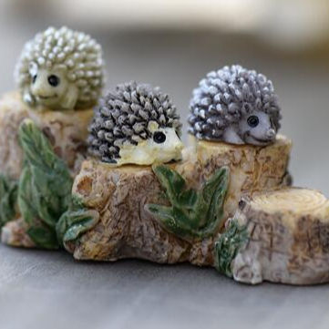Regali e mestieri agenti <span class=keywords><strong>decorazione</strong></span> da giardino in miniatura fata figure in resina hedgehog