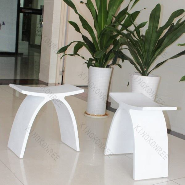 Bathroom Chair Adult Solid Surface Stone Bath Shower Seat Stool