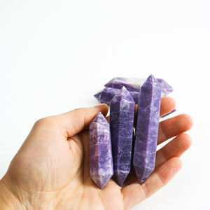Purple Color Lepidolite Palm Soap Massage 3 Pieces mm From Afghanistan
