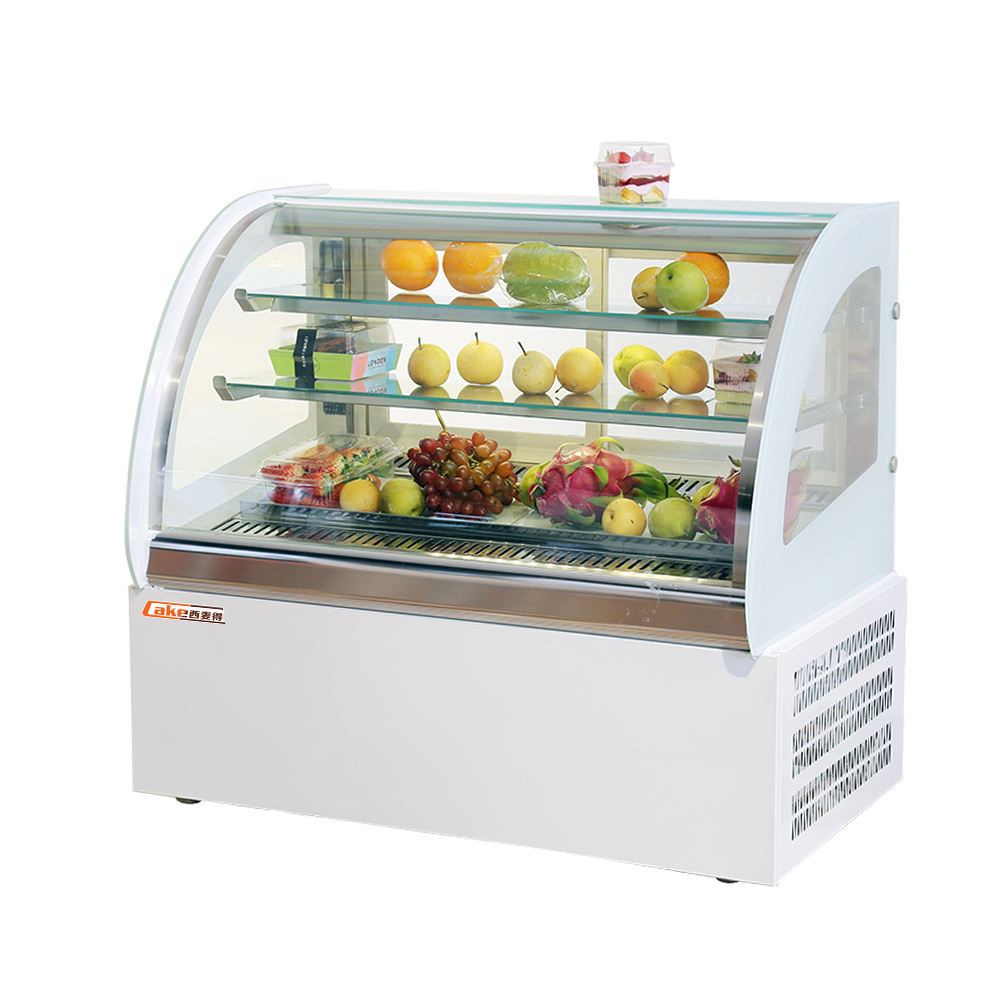 900 millimetri torta vetrina 102L display frigorifero cibo freddo bar contatore torta chiler table top torta refrigeratore display