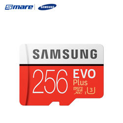 Samsung Wholesale 100% Original 256GB Microsd Flash Memory Cards EVO Plus 256GB Class 10 UHS-3 Mini SD Kort Memory Card SD