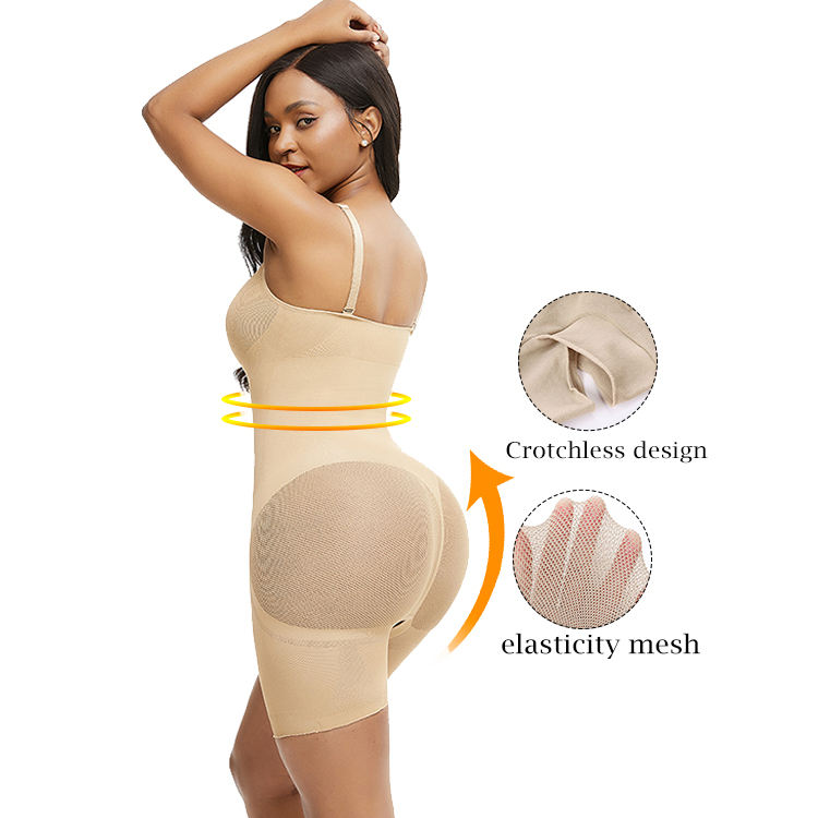 New Arrival Seamless Full Body Shaper Modeling Butt Lifter Thigh Reducer Slimming Tummy Control Panties Mesh Bodysuit Shapewear
