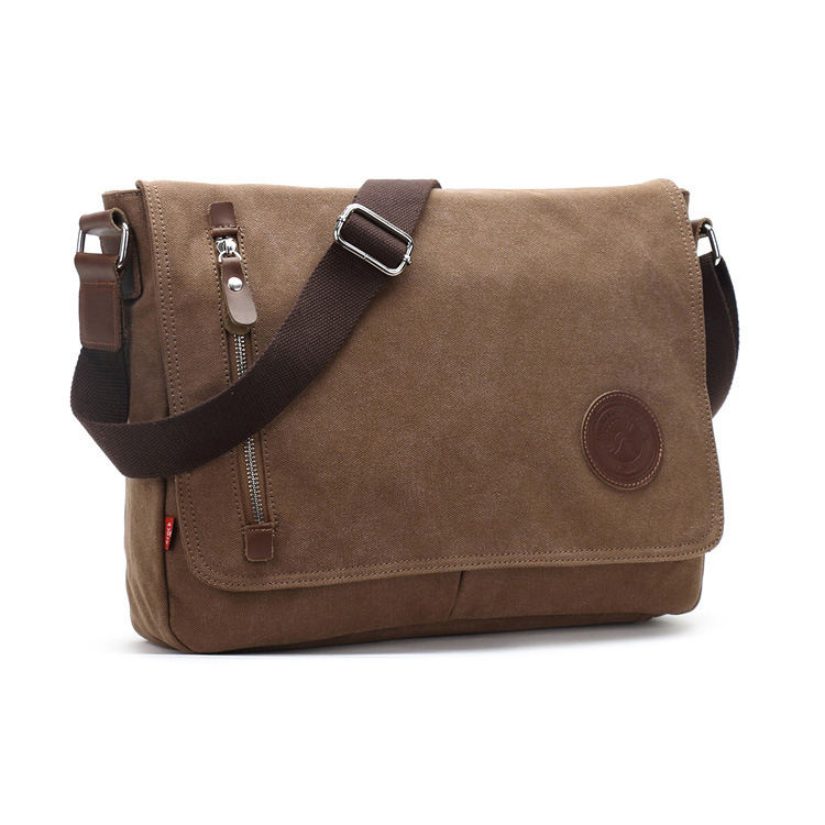 Wholesale custom trendy Business Casual men Sling Bags canvas shoulder Crossbody messenger bag