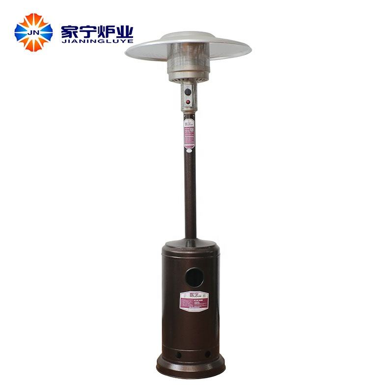 Professional propane patio heater with table coated iron