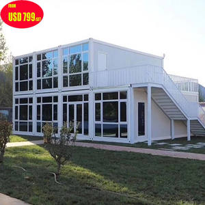 Prefab tiny modular ready made living Low cost 3 bedrooms flat container homes houses in china