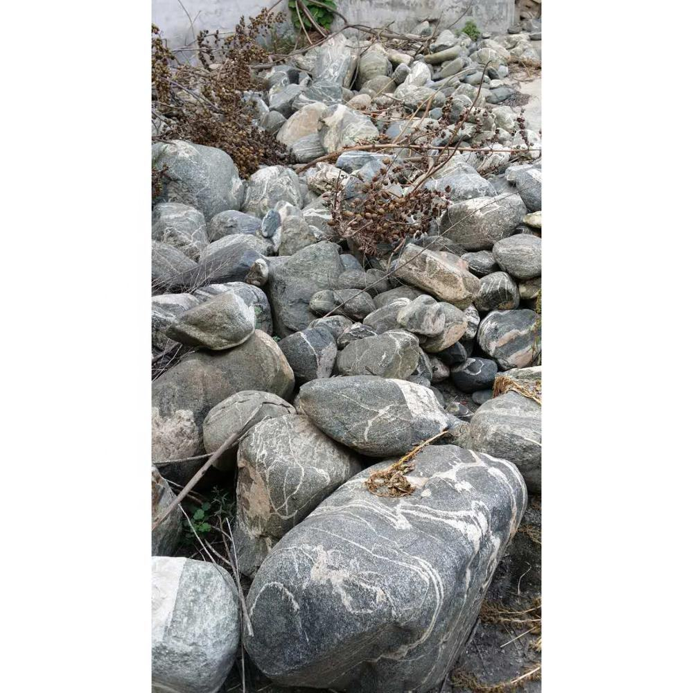 Wholesale Outdoor Garden Decorate Natural large black Water Wave River Rock Stone Boulder Landscapes