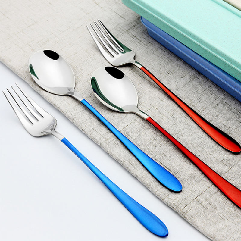 portable tableware box set cuttlery set stainless steel cutlery