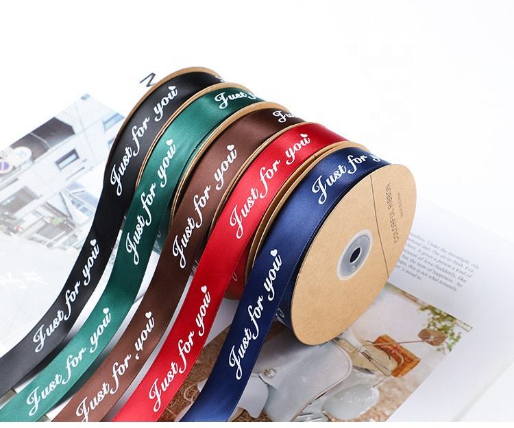 Promotion high quality printing ribbon custom made party decoration packing ribbon