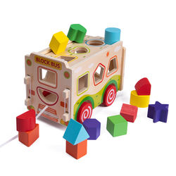 Baby Building Block Toys 0-1-2 Years Old Babies Children Boys and Girls Benefit Intelligence Brain Wood Assem