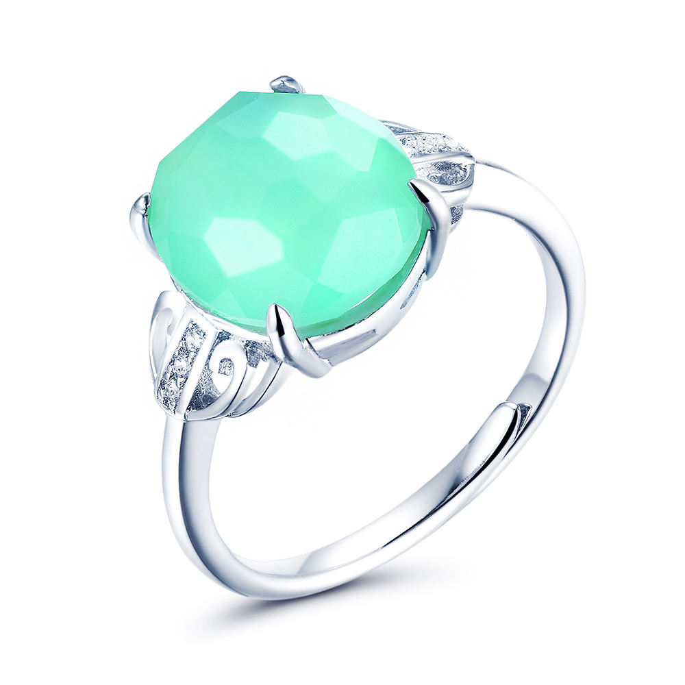 SKA 925 sterling silver jewelry wholesale gemstone jewellery high quality and nice color natural gemstone silver women ring