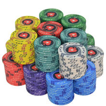 New EPT Ceramic Texas Hold em  Poker Chips Professional  Casino Baccarat European Poker Chips