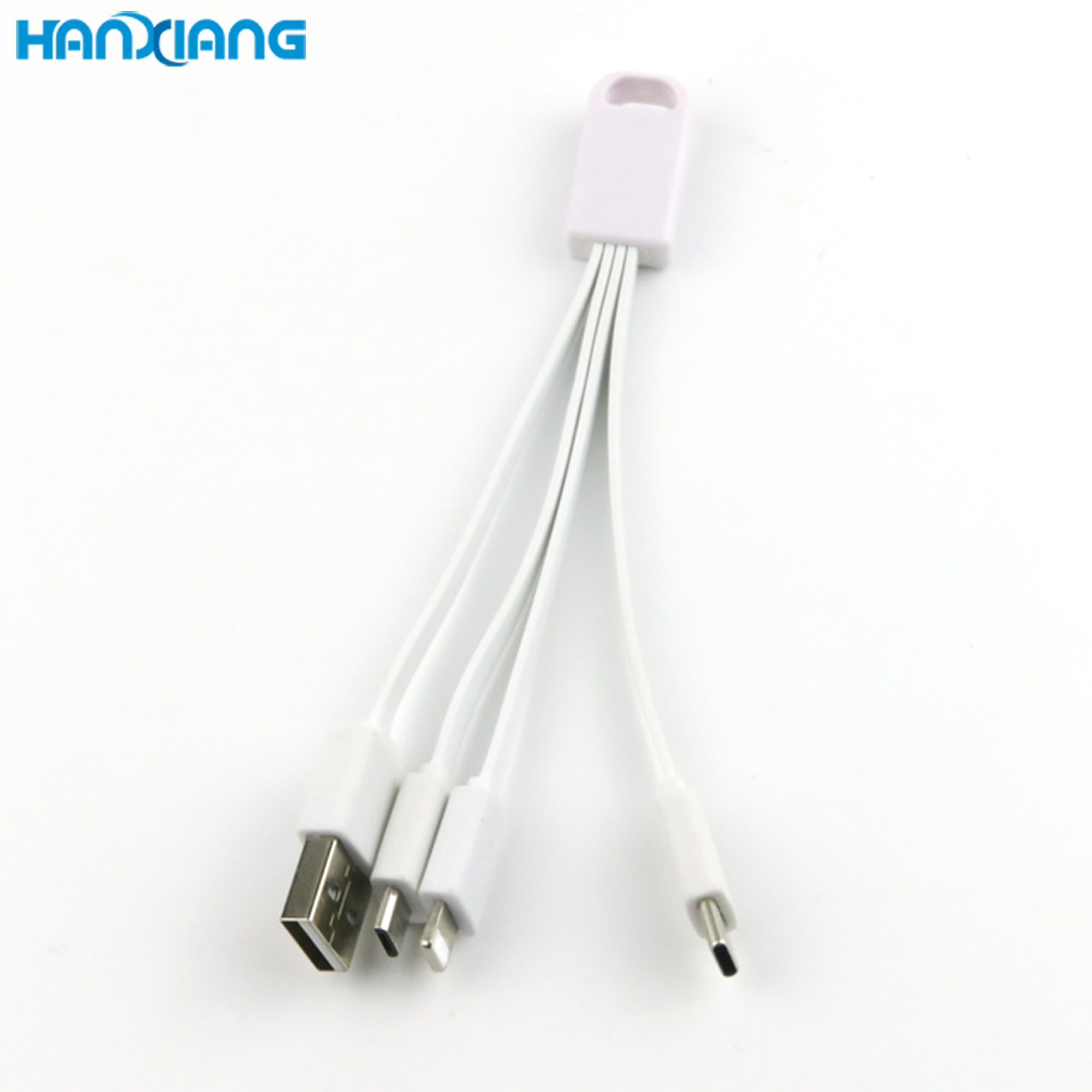 2021 Mobile Accessories Universal Data Quick Charging New Lightweight 3 In 1 USB Electric PVC Cable for Mobile Phone